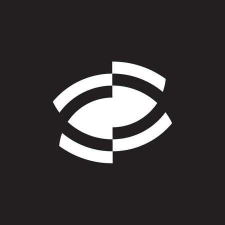 unseen eye symbol icon vector