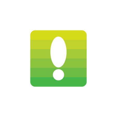 exclamation decoration gradient symbol vector Illustration