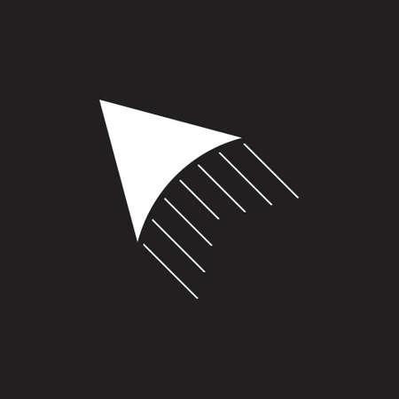 fast motion arrow simple logo vector