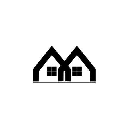 linked house geometric logo vector