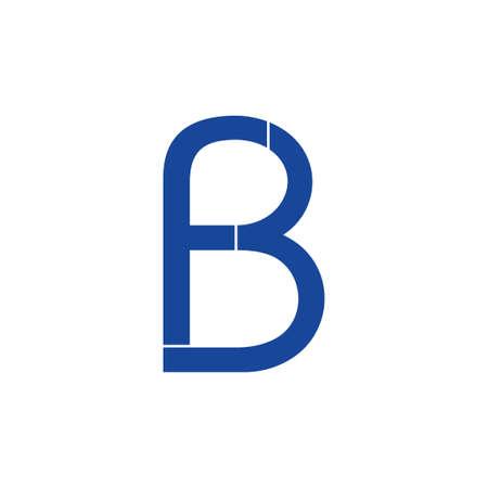 letter fb geometric logo vector
