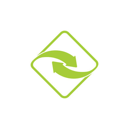 linked arrow rotate logo vector
