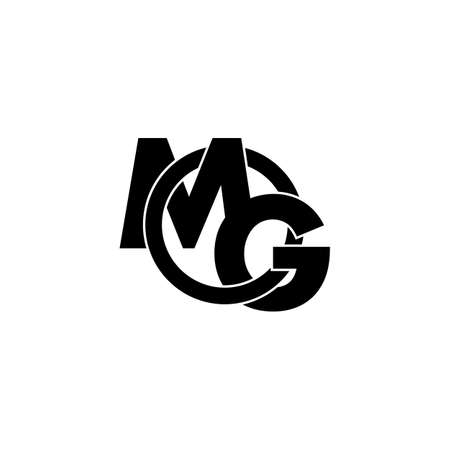 letters mg simple overlapping circle logo vector Illusztráció