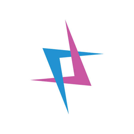 simple linked arrows colorful logo vector