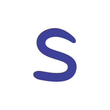 letter s simple curves logo vector Illustration