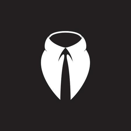 simple 3d businessman suit necktie logo vector Logo