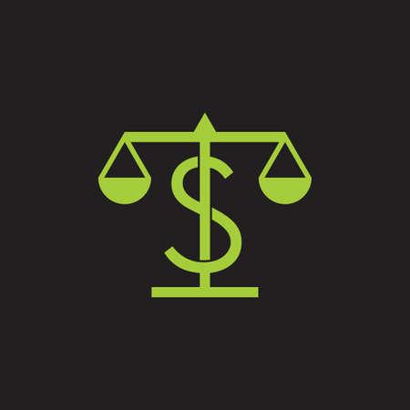 money balance height scale design symbol vector Ilustração