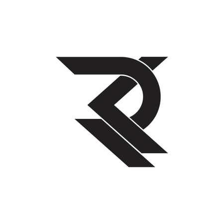 letter rk overlapping geometric logo vector