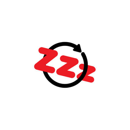 sleep zzz symbol logo vector