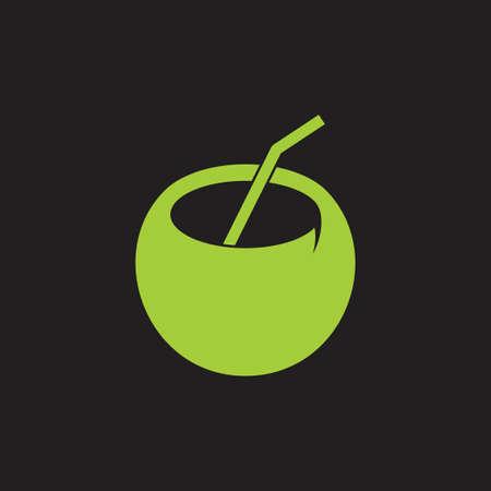 coconut drink symbol decoration vector