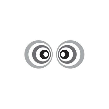 hypnotic stripes circle design symbol logo vector