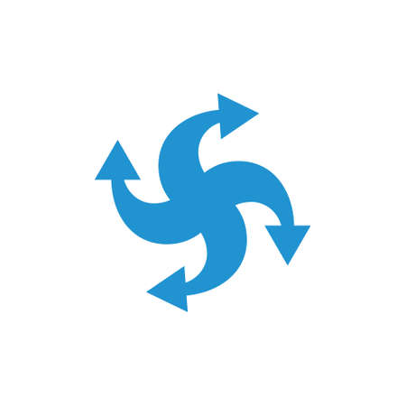 four rotation arrow logo vector