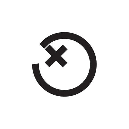ox circle geometric line logo vector