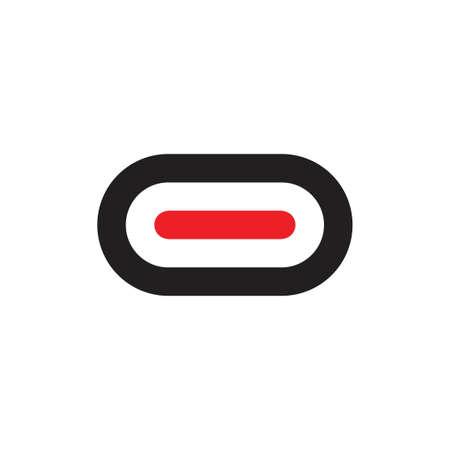 simple oval line geometric logo vector Illusztráció