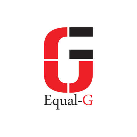equal g simple geometric logo vector