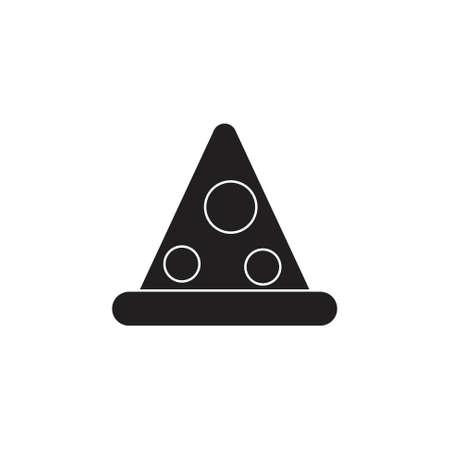 triangle dots cap cute kid symbol vector Illusztráció