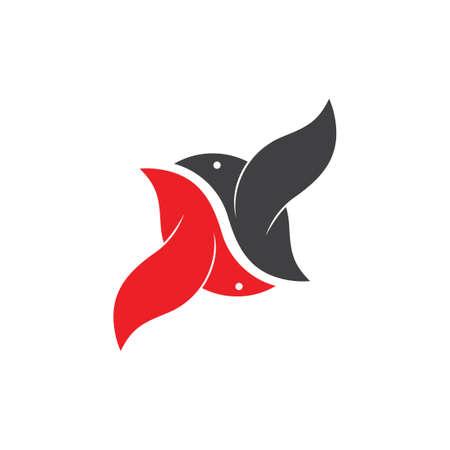bird mate fly geometric logo vector