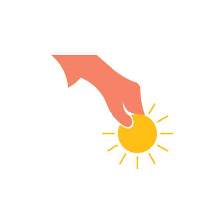 shine hand money charity symbol vector Çizim