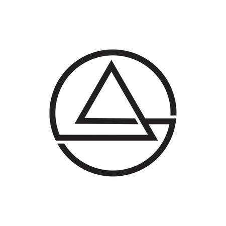 abstract overlapping line triangle circle logo