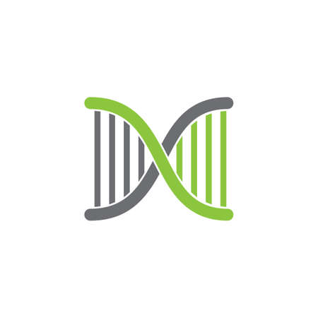 simple helix dna geometric line logo vector
