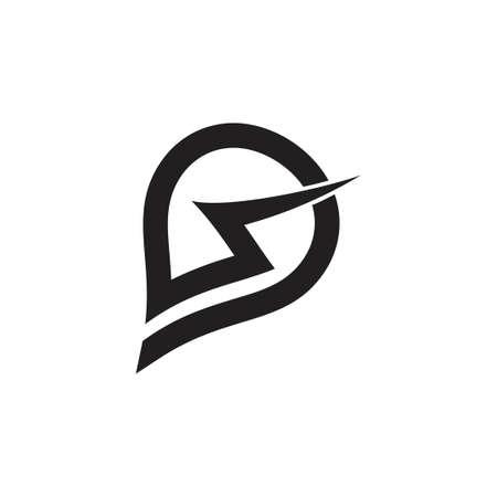 letter s electric powerful concept logo vector Foto de archivo - 133734848