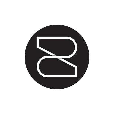letter z number 2 infinity line logo