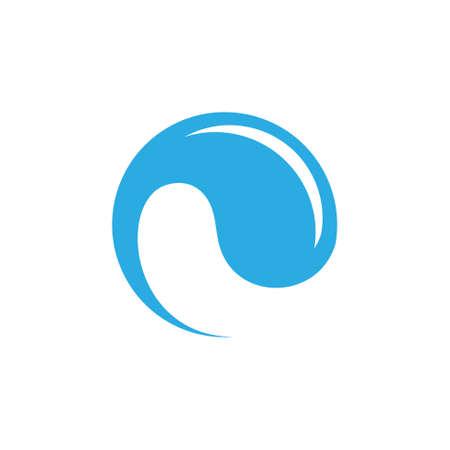 rotation drop water clean logo vector