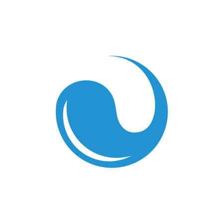 circle rotation drink water fresh logo vector Foto de archivo - 133734915