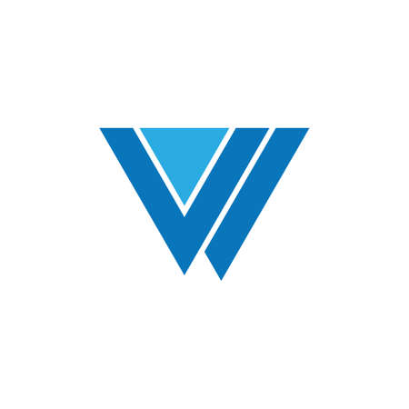 letter vw triangle geometric logo vector Ilustrace