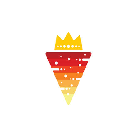 triangle king cheese pizza symbol gradient vector Иллюстрация
