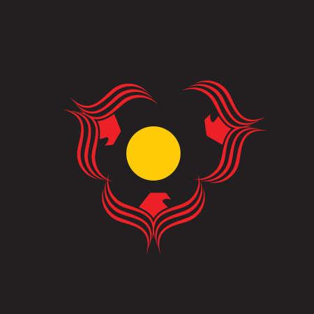 circle eagle shine logo vector