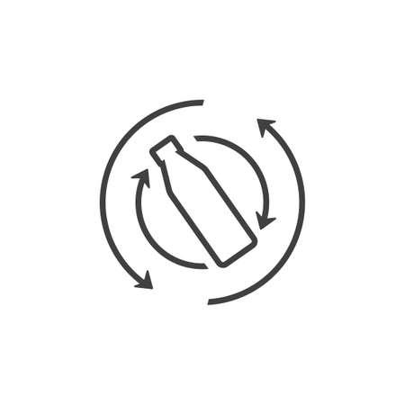 shake bottle arrow line symbol vector