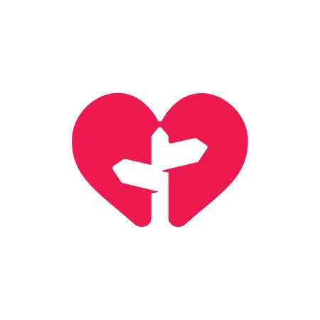 love traveling street sign symbol vector