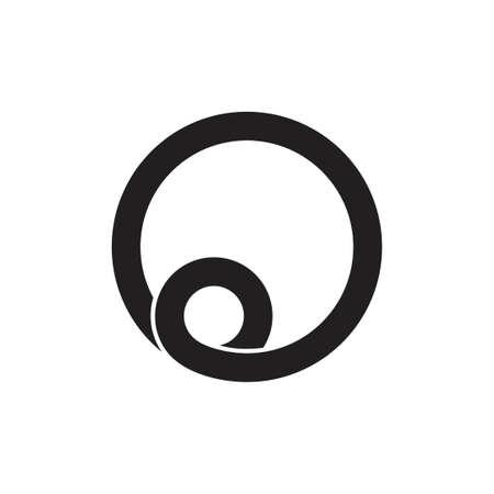 letter o loop spiral logo vector