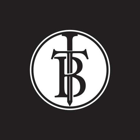letter tb sword logo vector Ilustrace