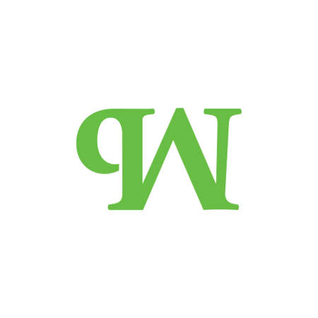 letter qw linked simple logo vector Ilustrace