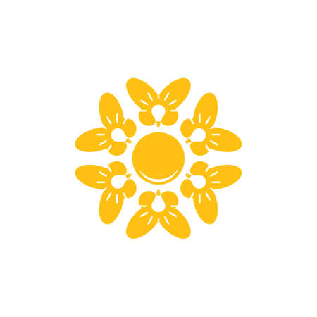 circle light bulb butterfly team work logo vector  イラスト・ベクター素材