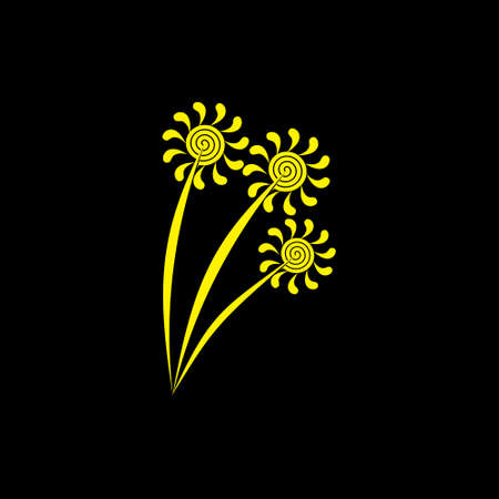 fireworks symbol logo vector