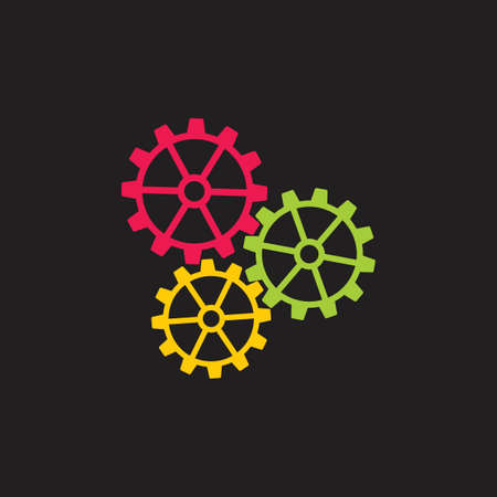 cog machine colorful system logo vector