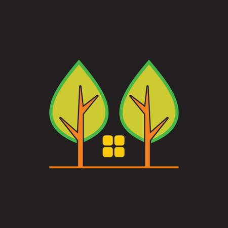 home tree symbol vector