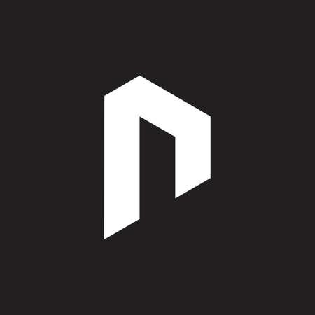 letter r simple geometric logo vector Çizim