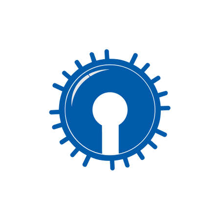 shine key hole logo vector