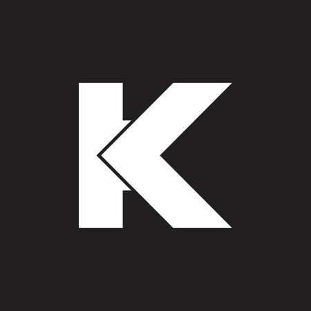 letter k simple geometric arrow logo vector Logo