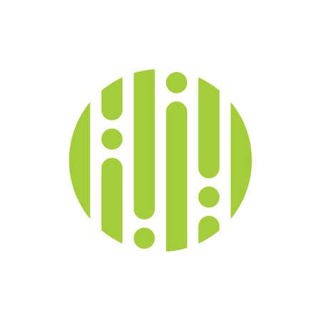 circle dots line abstract rain water logo vector