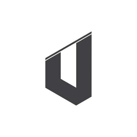 letter j simple geometric logo vector