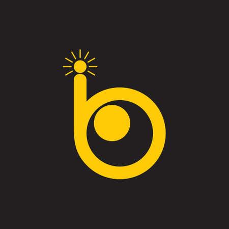 letter b cute eye shine smart symbol logo Standard-Bild - 134735416