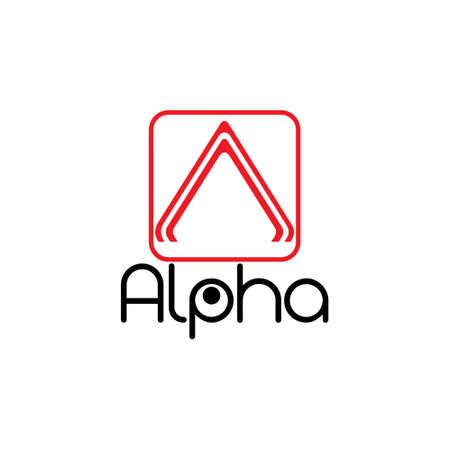 arrow letter a alpha design logo vector Çizim