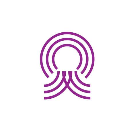 stripes circle path abstract logo