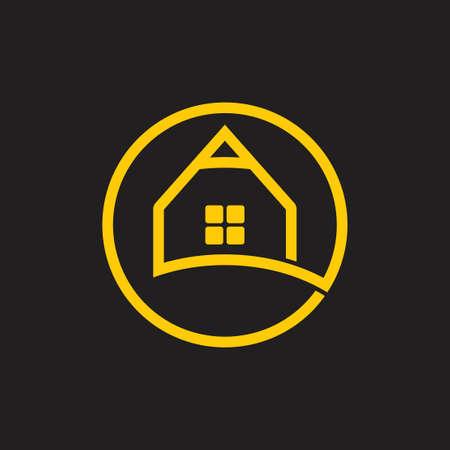 home of education pencil shape logo vector