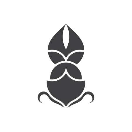geometric sail waves symbol flat monogram logo vector